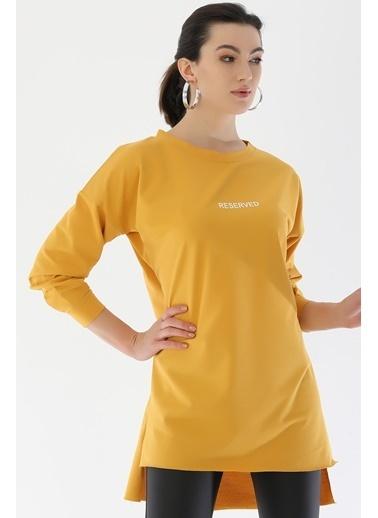 Emjey Basic Uzun Tunik Hardal